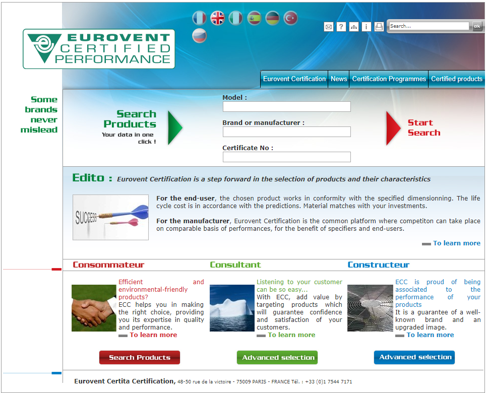 homepage eurovent